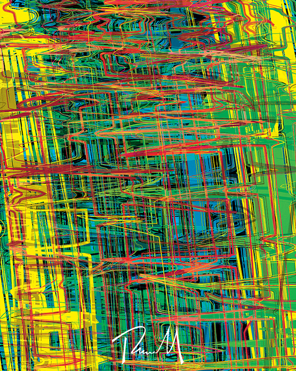 Organic Static #2 Abstract art